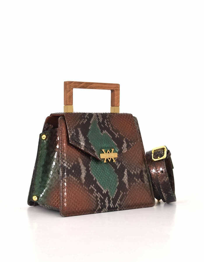 The Spur Bag - Brown Green Bronze