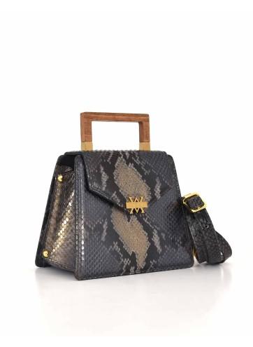 The Spur Bag - Grey Black Gold