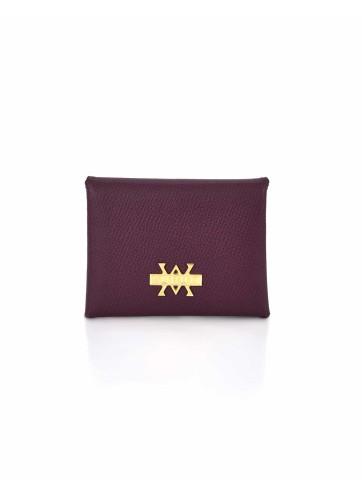 Card Holder Hanging - Burgundy