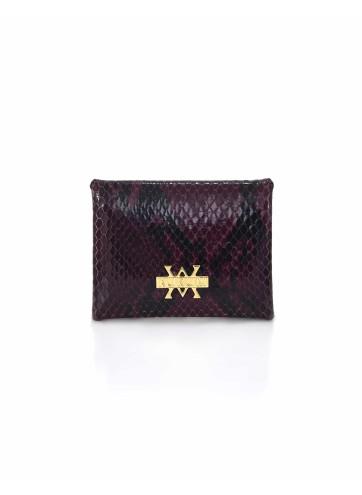 Card Holder Hanging - Python Burgundy Black