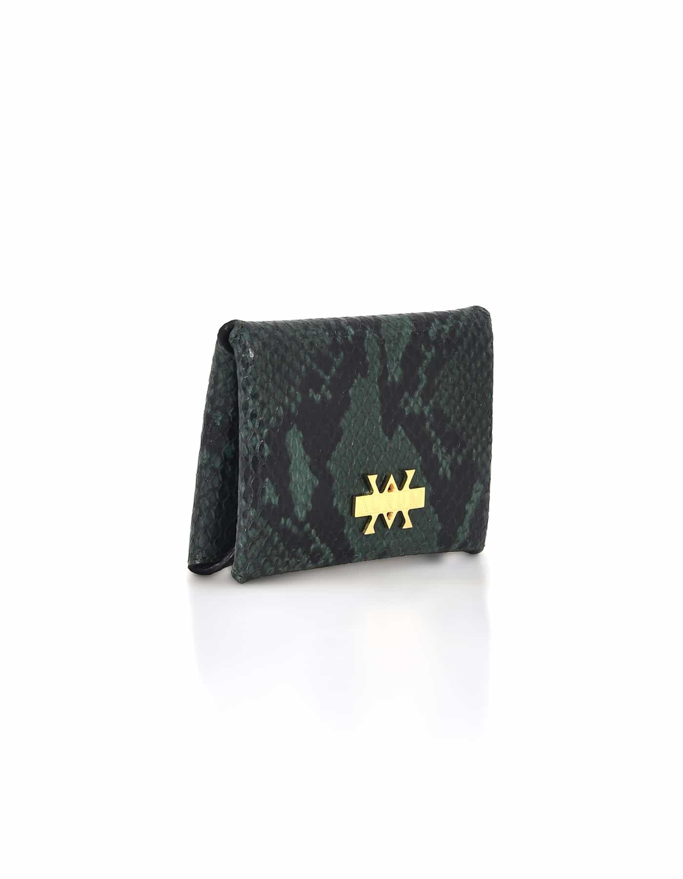 Card Holder Hanging - Python Olive Black