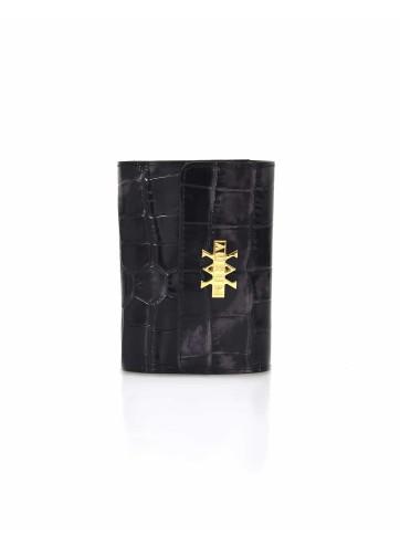 Wallet Crocodile Imprints - Black