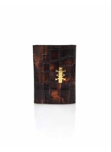 Wallet Crocodile Imprints - Brown