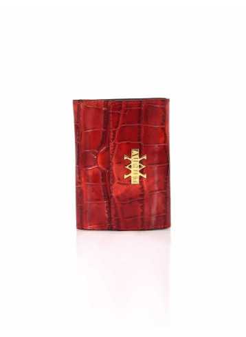 Wallet Crocodile Imprints - Red