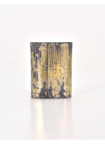 Wallet Lizard Imprints - Gold & Gray