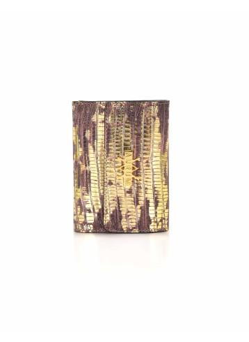 Wallet Lizard Imprints - Gold & Brick
