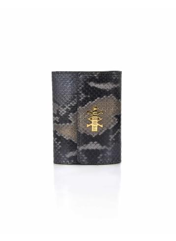 Wallet Python Leather - Grey & Black
