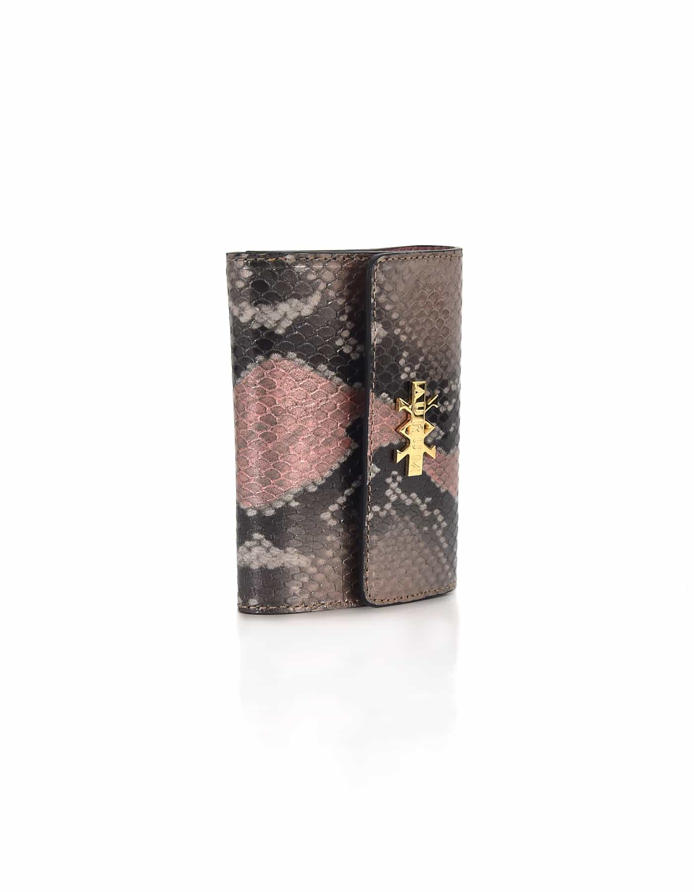 Wallet Python Leather - Grey & Nude