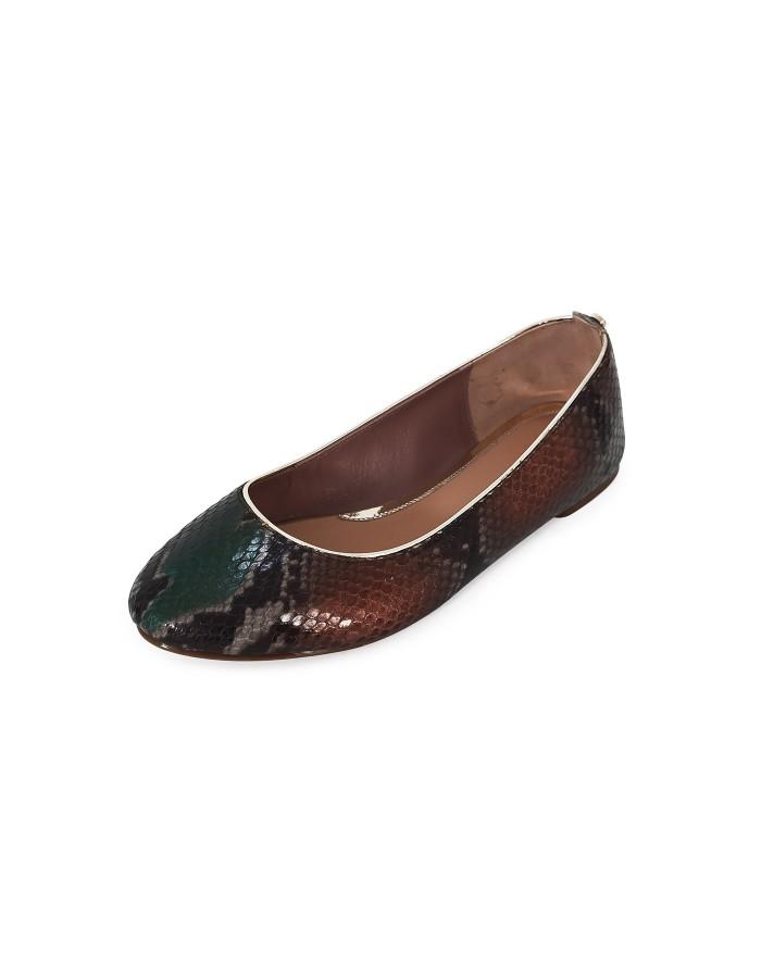 Ballerinas Python - Brown Green