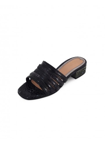 Multi Strap Flats - Black