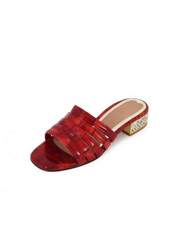 Multi Strap Flats - Red