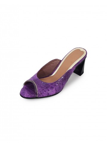 Poppy Pointed Mules - Purple