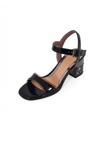 Sandal Chunky Heels - Black