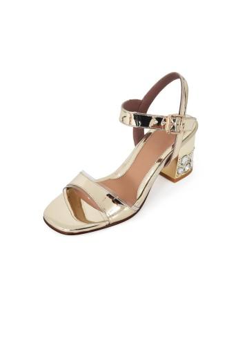 Sandal Chunky Heels - Platine