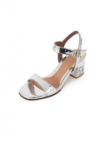 Sandal Chunky Heels - Silver