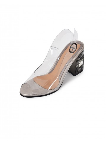 Sandal Clear Buckle Heels -  Anciano
